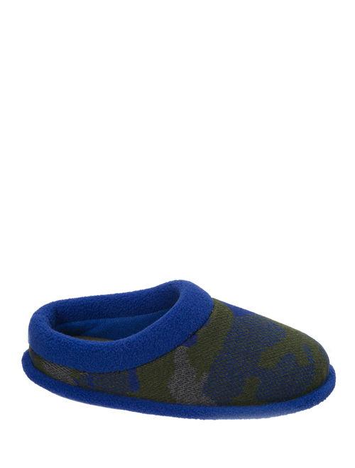 Dearfoams Boy's Camo and Fleece Clog Slippers