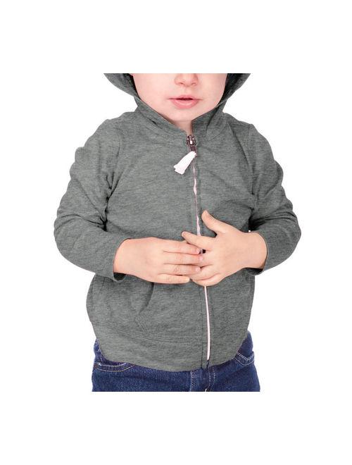 Kavio IJP0596 Infants Jersey Long Sleeve Zip Up Hoodie-Azure-18M