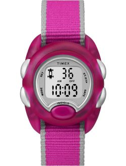 Kids Time Machines Digital Pink Watch, Nylon Strap