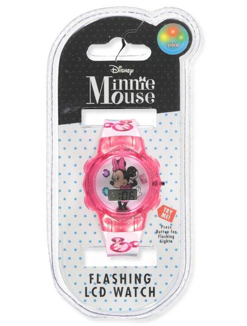 Disney Minnie Mouse Flashing LCD Watch