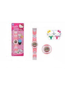 Hello Kitty Interlocking Style LED Digital Kids Superhero Build A Watch HK-777-144