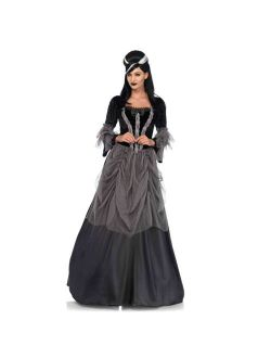 Womens Gothic Victorian Ball Gown Halloween Costume