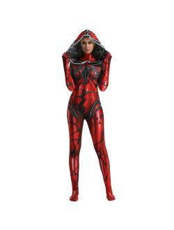US! Superhero Gwen Women Hoodie One-piece Halloween Cosplay Tight Costume