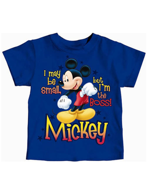 Disney Toddler Mickey Mouse I May Be Small but I'm the Boss 2T Tee