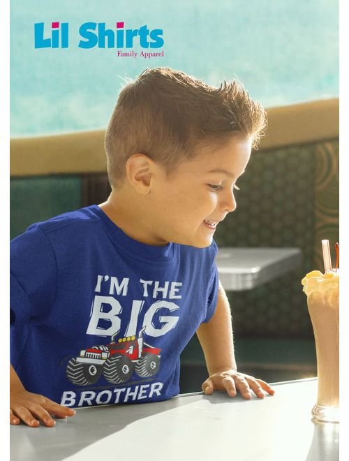 Big Brother Monster Truck Toddler & Youth Tee Shirt (3T)