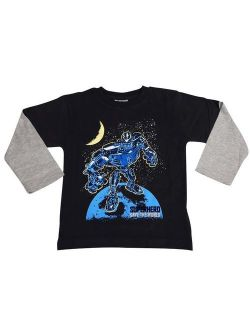 Mish Toddler & Little Boys Long Sleeve Graphic Tee Shirt Top Many Colors SZ 2-7, 34503 BLACK SAVE THE WORLD / 3