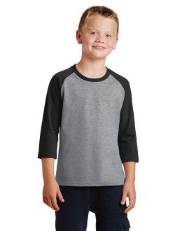 Port & CompanyA Youth 3/4-Sleeve Raglan T-Shirt