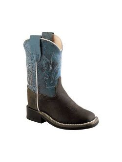 Children's Old West Ultra Flex Broad Square Toe Cutout Boot Youth