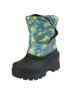Kid's Flurrie Winter Snow Boot, Gray/volt, 5 M Us Toddler