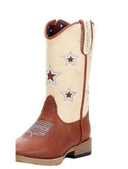 DBL Barrel 4441402-10 Kids Zip Lone Star Boot, Brown - Size 10