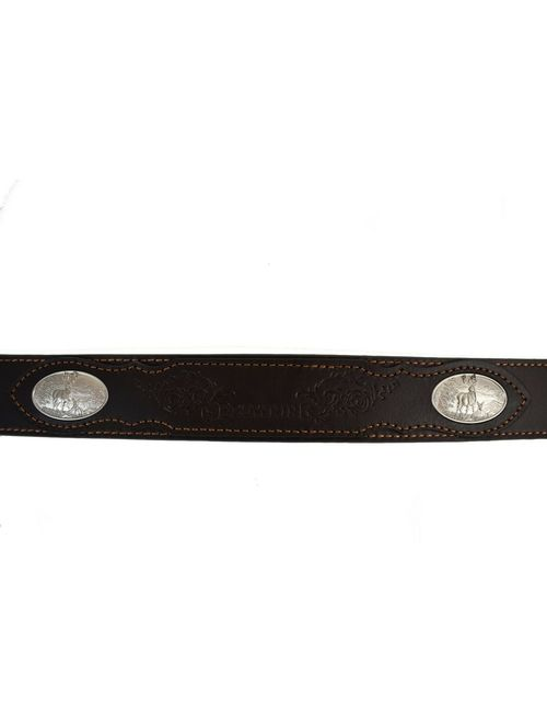 Browning Mens Deer Ornament Belt Brown