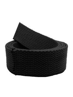 Replacement Canvas Web Belt 1.25 Military Width Small Black