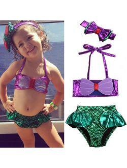 Stripe Toddler Kids Baby Girls Swimsuit Swimwear Bathing Suit Tankini Bikini Set