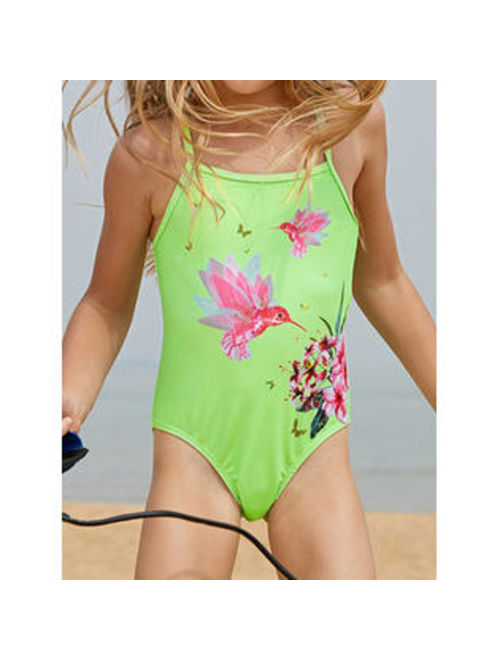 Kids Girls Spaghetti Strap One Piece stylish Swimwear