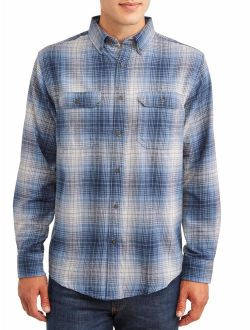 Men's And Big Men's Long Sleeve Super Soft Flannel Shirt, Up To Size 2xlt