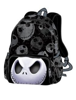"""Nightmare Before Christmas Jack 12"""" Cargo Small Toddler Backpack"""