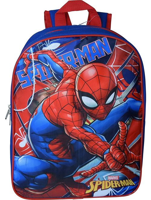 "Marvel Spiderman 15"" School Bag Backpack (Blue-Red)"