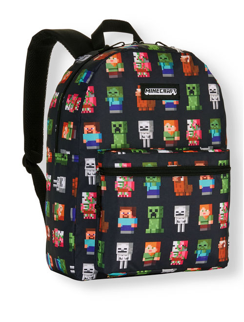 """Minecraft Characters 16"""" Backpack"""