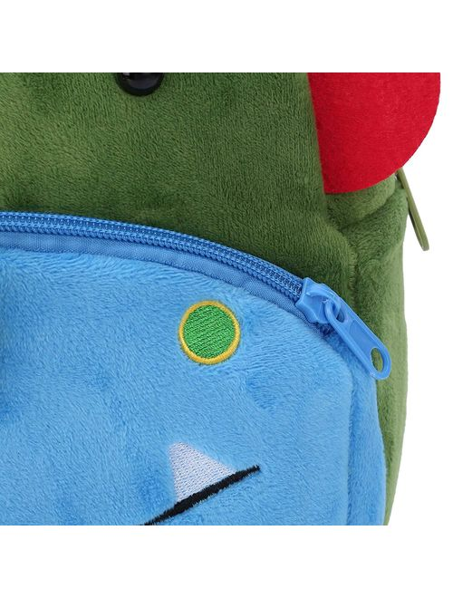 3D Children Kids Toddler Preschool Kindergarten Backpack for Boys Girls, Super Cute Cartoon Travel Lunch Bags, Cute Dinosaur Design for 2-4 Years Old