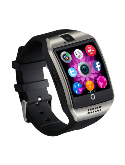 Silver Bluetooth Smart Wrist Watch Phone mate for Android Samsung HTC LG Touch Screen Blue Tooth SmartWatch with Camera for Adults for Kids (Supports [does not include] S