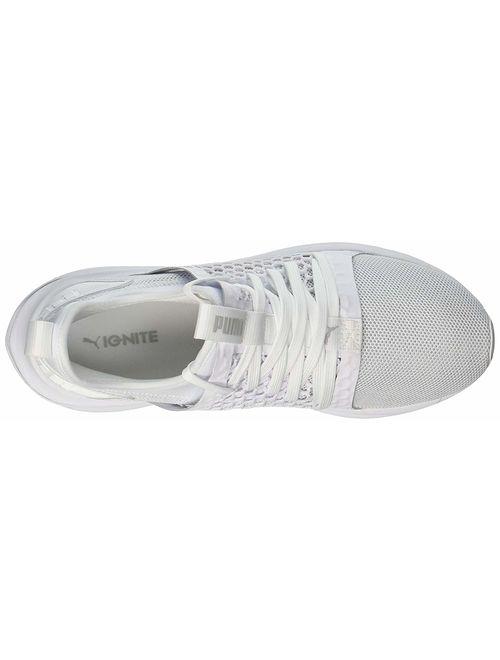 Puma Mens Ignite Limitless Sr Netfit Low Top Lace Up Fashion, White, Size 11.5