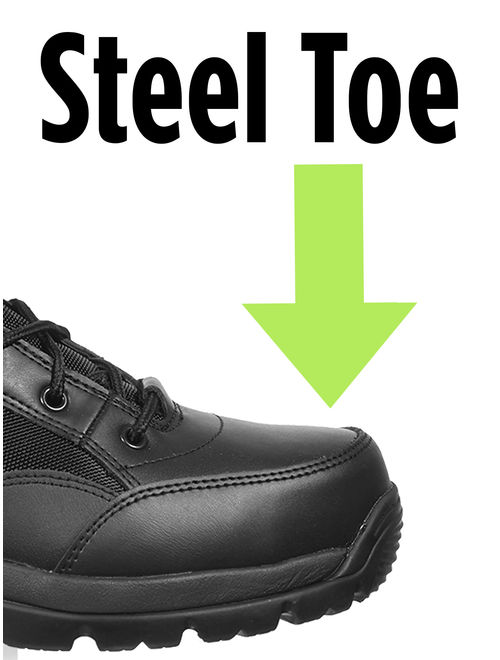 Interceptor Force Leather Tactical Steel-Toe Work Boots