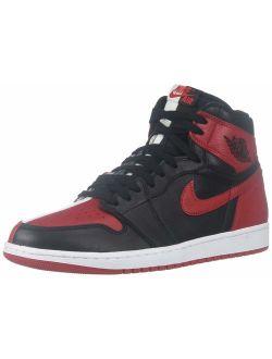 Mens Air Jordan 1 Retro High Og Nrg Hth Black/university Red-white Leather