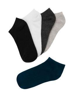 Anti-slip No Show Hidden Ankle Socks 5-pack (men's& Junior)