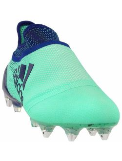 Mens X 17+ Purespeed Soft Ground Soccer Athletic Cleats, Green, 8.5