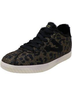 Tretorn Women's Callie 4 Metallic Velvet Gold Multi/ Black Ankle-High Leather Sneaker - 10.5M