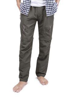 Men's Pants Tactical Hiking Cargo Pants Skinny Slim Fit Five Pockets Nylon Trousers Green