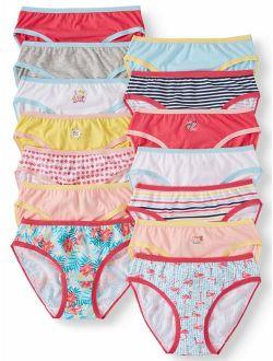 Girls' Underwear Cotton Bikini Panties, 14 Pack (little Girls' & Big Girls'), Size 6