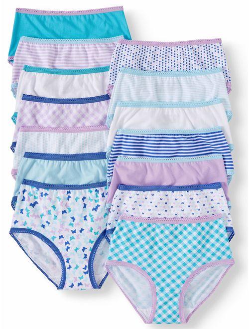 Wonder Nation Girls Underwear, 14 Pack 100% Cotton Brief Panties (Little Girls & Big Girls)