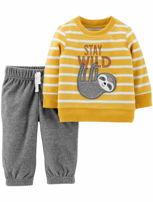 Child of Mine by Carter's Baby Boys Long Sleeve Shirt and Pant, 2pc Set