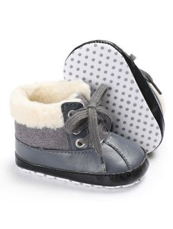 New Infant Toddler Shoes Baby Boy Ankle Snow Boots Crib Shoes Anti-slip Sneakers