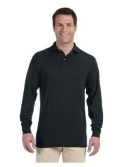 Jerzees Adult 5.6 oz., SpotShield Long-Sleeve Jersey Polo 437ML