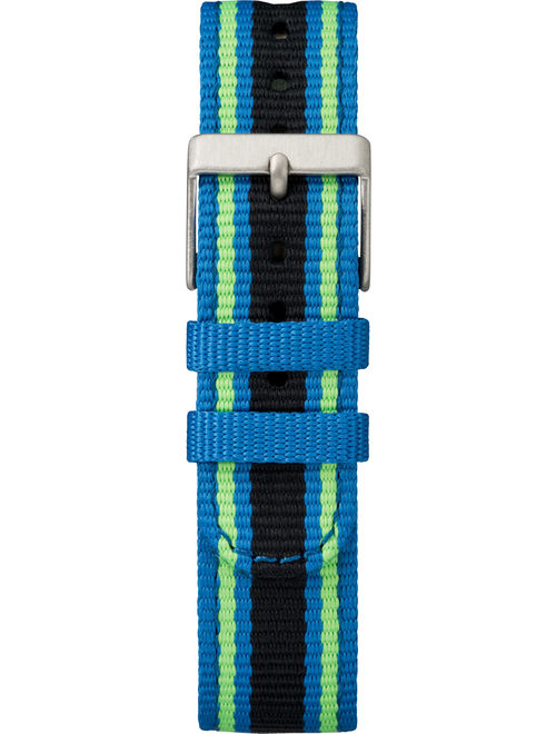 Timex Kids Time Machines Digital 35mm Blue/Black/Green Watch, Double-Layered Nylon Strap