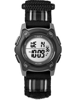 Kids Time Machines Digital 35mm Black Watch, Double-layered Fast Wrap Strap