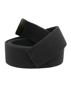 Replacement Canvas Web Belt 1.25 Military Width Black Tip Small Black
