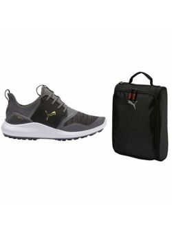 Better Puma Ignite Ignite Nxt Mens Lace Golf Shoes Bundle With Puma Shoe Bag | Strong, Comfortable & Lightweight | Spikeless