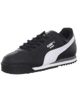 354259-01: Roma Basic J Black/white Classic Running Shoes (6 M Us Big Kid)