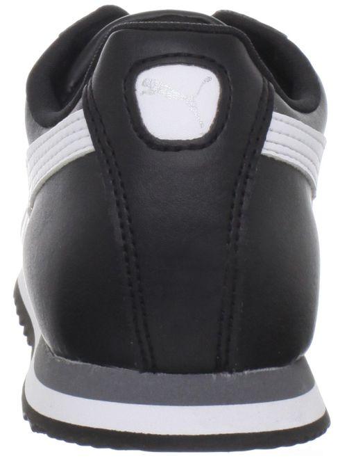 puma 354259-01: roma basic j black/white classic running shoes (6 m us big kid)