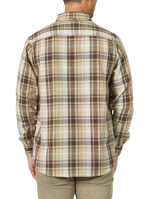 Wrangler Men's Long Sleeve Plaid Flannel Shirt