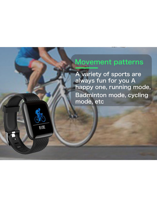 Smart Watch Bracelet Fitness Tracker BT4.0 Wristband Heart Rate Blood Pressure Monitor