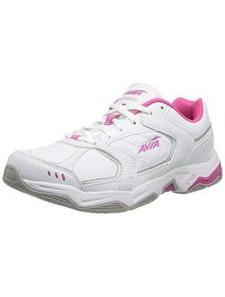 Womens Avi Tangent Faux Leather Lightweight Running, Cross Training Shoes