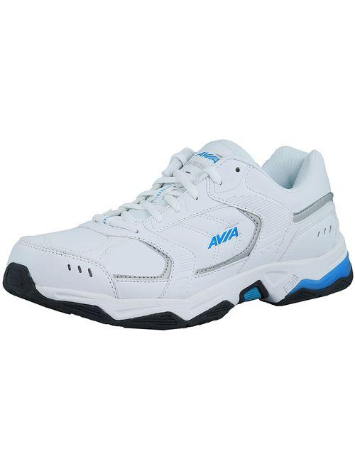 Avia Women's Avi-Tangent White / Light Blue Grey Ankle-High Rubber Running Shoe - 10.5M