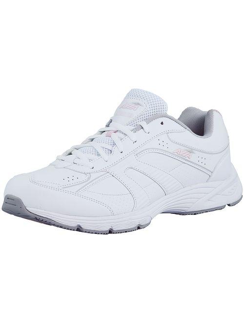 Avia Women's Avi-Strike White / Pink Grey Ankle-High Rubber Running Shoe - 11M