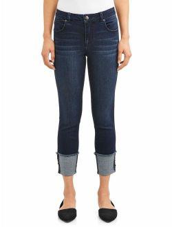 Women's Wide Roll Cuff Jeans