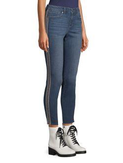 Scoop Ankle Skinny Jean with Gunmetal Stripe Women's