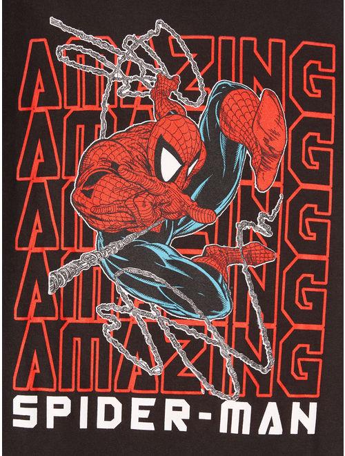 "Marvel Spider-Man ""Amazing Repeat"" Short Sleeve Licensed T-Shirt (Little Boys & Big Boys)"
